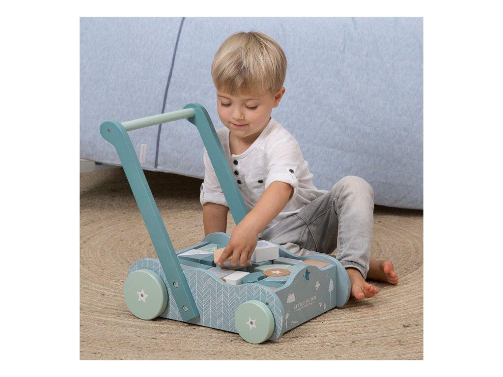 detský vozíček montessori metóda ružový
