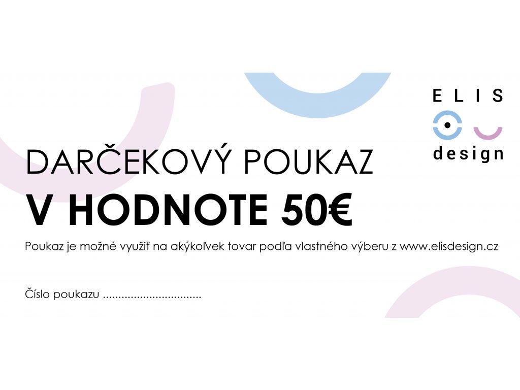 Darčekový poukaz ELIS DESIGN 50€