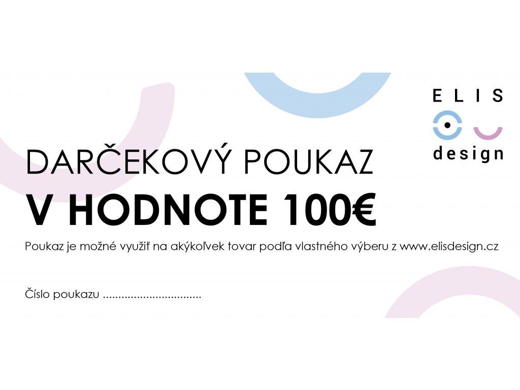 darčekový poukaz ELIS DESIGN 100€