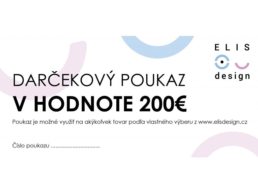darčekový poukaz ELIS DESIGN 200€