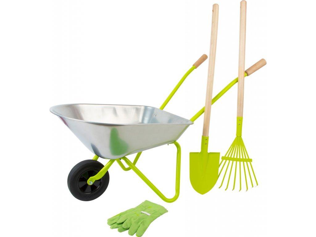 detský fúrik a záhradné náradie pre deti