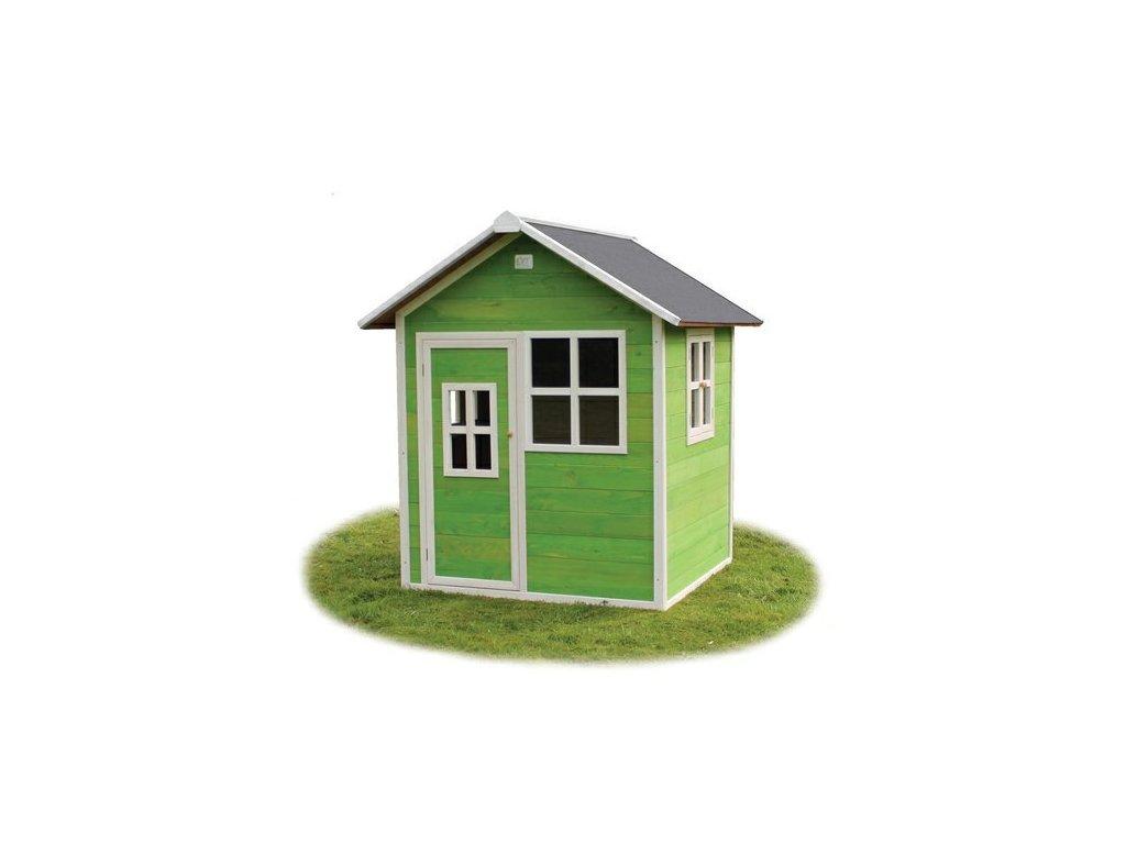 zahradny zeleny domcek pre deti z kvalitneho dreva