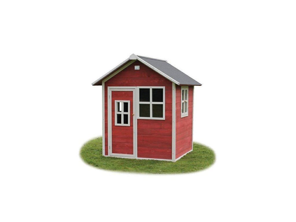 zahradny cerveny domcek z cedroveho dreva pre deti kvalitny
