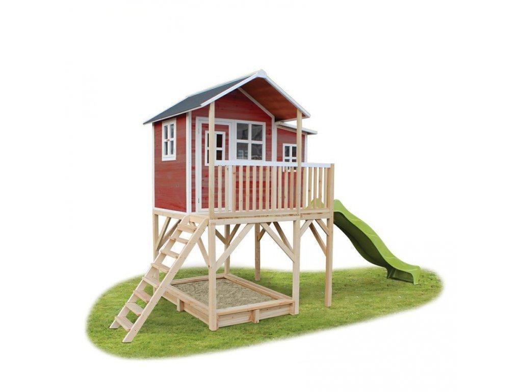 velky cerveny zahradny domcek z kvalitneho dreva ktoré nezhnije