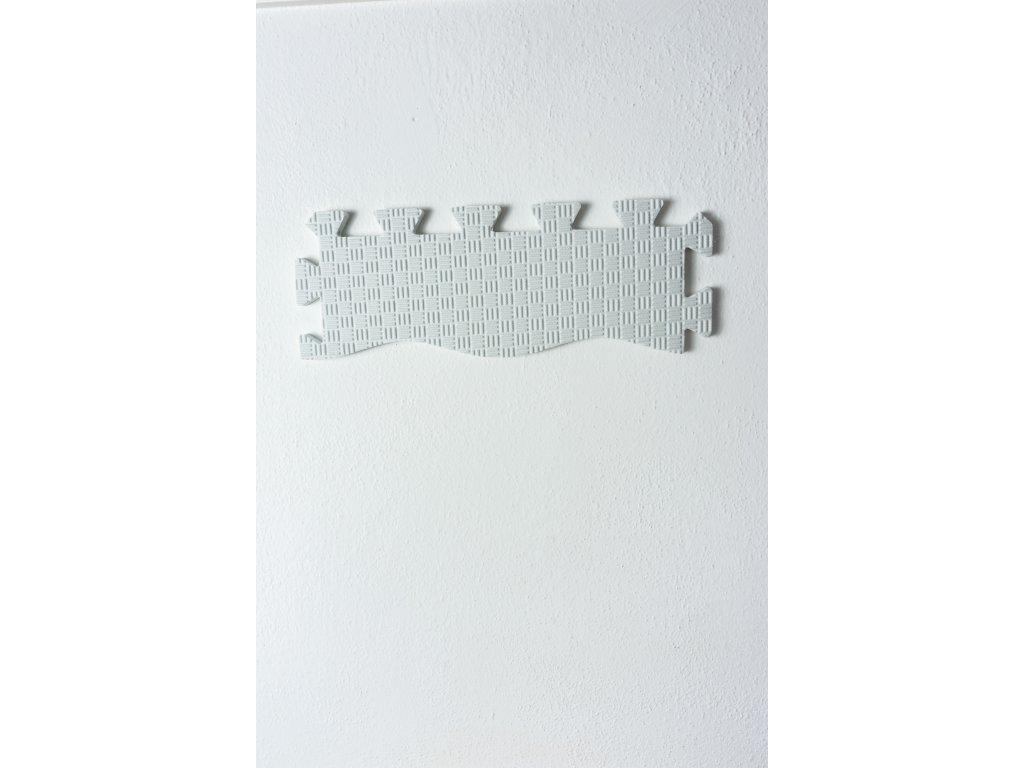 okrajový diel penovej puzzle podložky biely 2