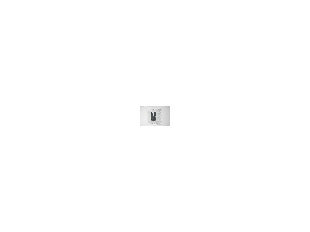 zajac penová puzzle podložka biela s tmavosivým výrezom 1