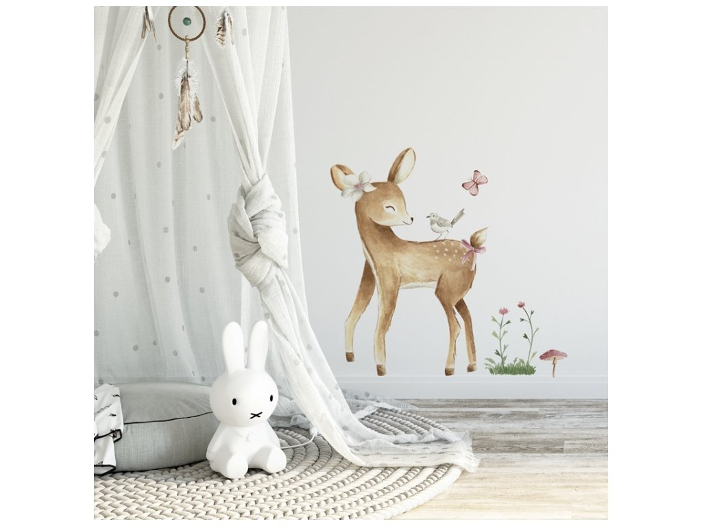 Nálepka na stenu do detskej izby srnček