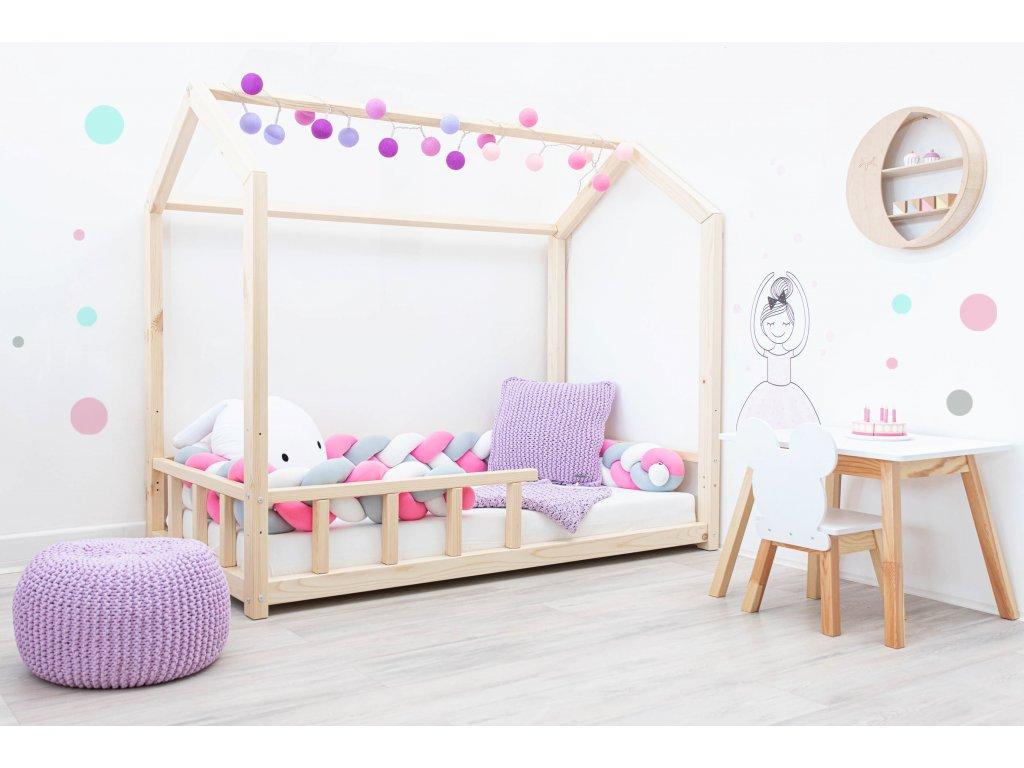 eco rastúca domčeková posteľ pre deti z kvalitného masívu borovica