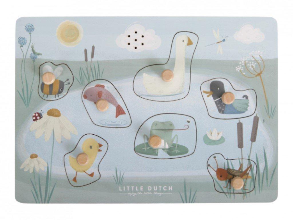 Drevené puzzle so zvieratkami a zvukmi
