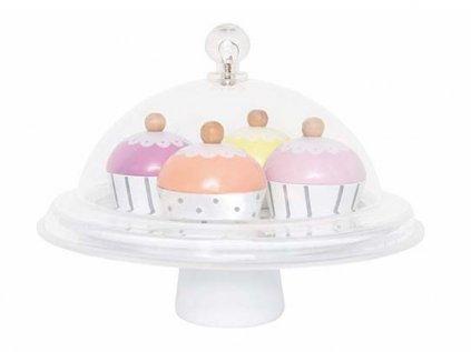 detské drevené koláče na hranie cupcaky