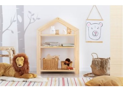Detský domčekový regál je vhodný do všetkých detských izieb.