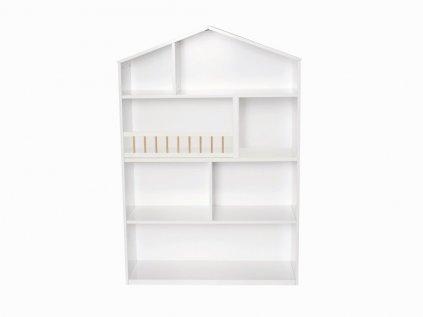detský regál domček veľký biely z dreva