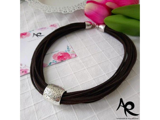 AR náhrdelník hnědý