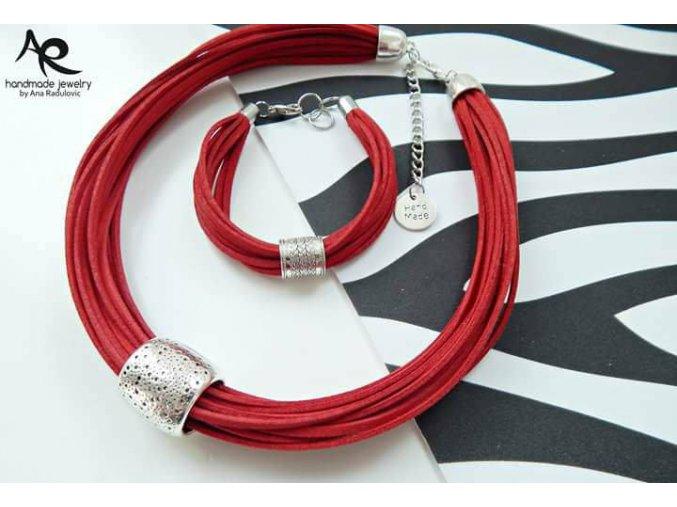 AR náhrdelník a náramek červený