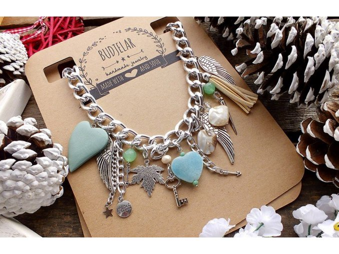 BUDJELAR náhrdelník LEA modrý