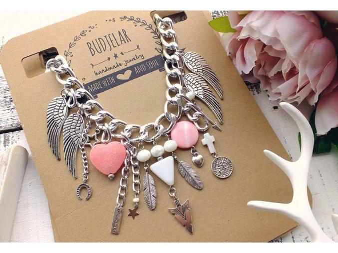 BUDJELAR náhrdelník LEA růžový