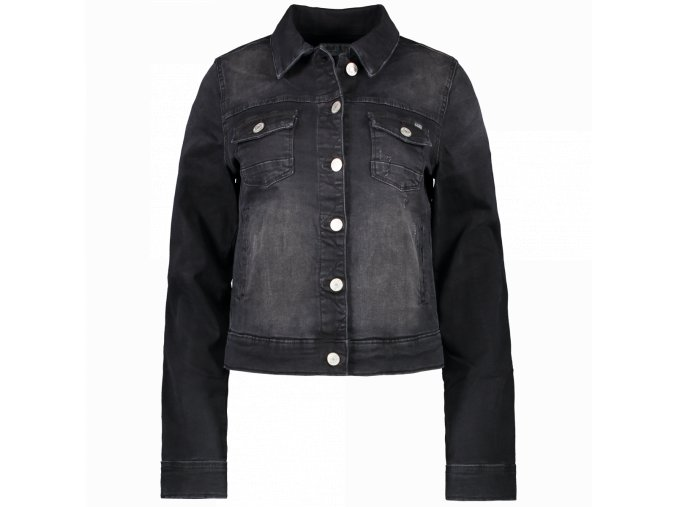 Dámská jeans bunda JORINDA LADIES BLACK USED CARS JEANS