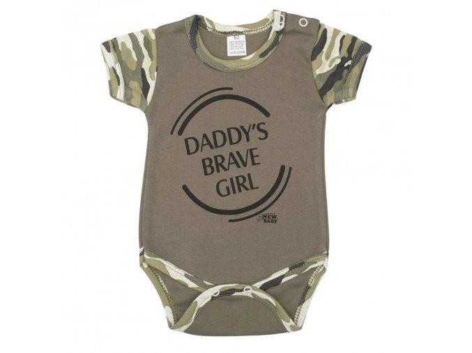 Kojenecké body s krátkým rukávem New Baby Army girl (1)