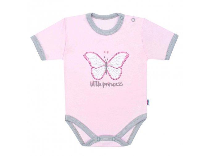 Kojenecké bavlněné body s krátkým rukávem New Baby Little Princess (1)