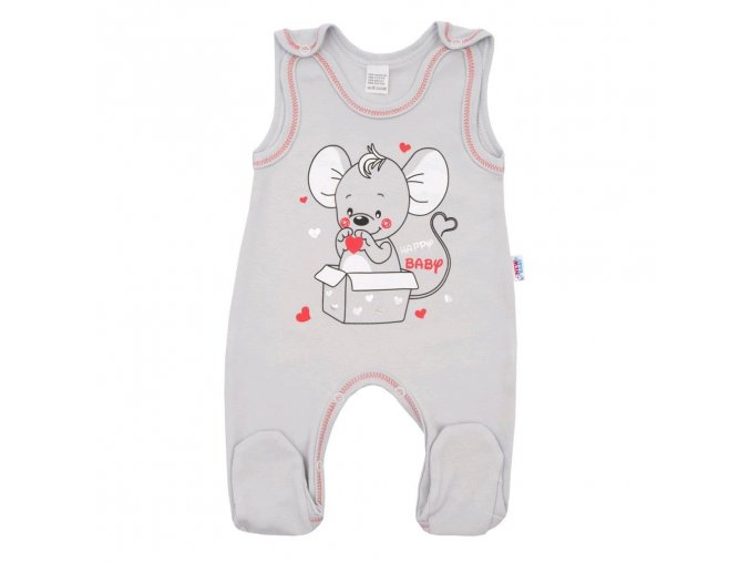 Kojenecké dupačky New Baby Mouse šedé (1)
