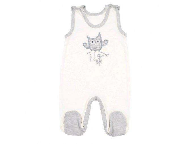 Kojenecké dupačky New Baby Owl béžové (1)