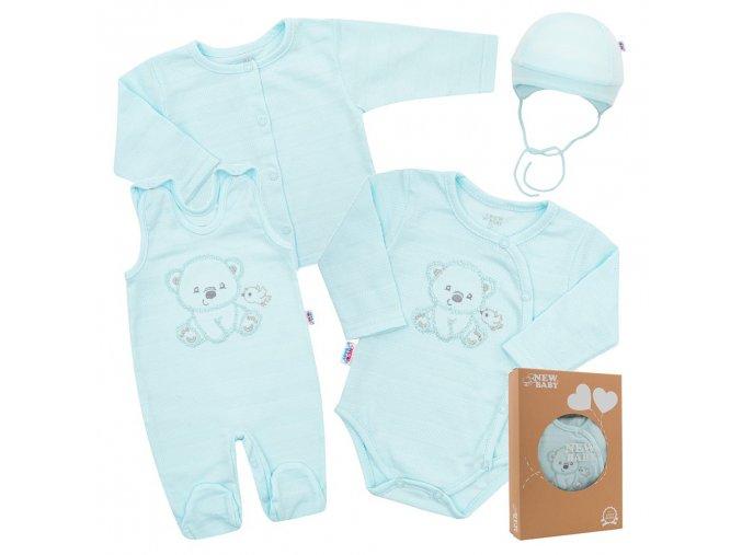 Kojenecká soupravička do porodnice New Baby Sweet Bear modrá (1)