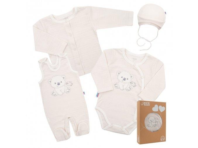 Kojenecká soupravička do porodnice New Baby Sweet Bear béžová (1)