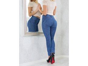 Leg-Jeans 2v1 PUSH-UP vysoký pas ATAS riflová