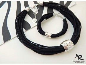 AR náhrdelník a náramek černý