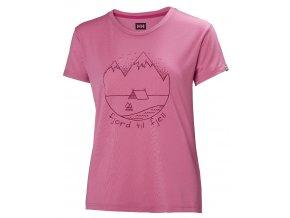 Funkční tričko HELLY HANSEN W SKOG GRAPHIC T-SHIRT