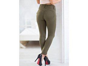 Legíny s PUSH-UP efektem (Leg-Jeans), vysoký pas ATAS olivová