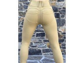 Legíny s PUSH-UP efektem (Leg-Jeans), vysoký pas ATAS písková