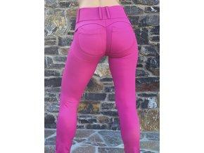 Legíny s PUSH-UP efektem (Leg-Jeans), vysoký pas ATAS purpurová