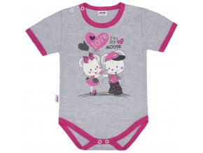 Dětské body s krátkým rukávem New Baby Love Mouse (3)