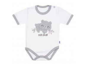 Kojenecké bavlněné body s krátkým rukávem New Baby Cute Bear (1)