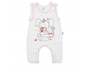 Kojenecké dupačky New Baby Mouse bílé (1)