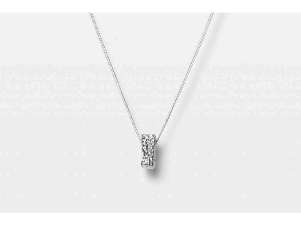 New Archeology Artefakt stříbrný řetízek hranatý