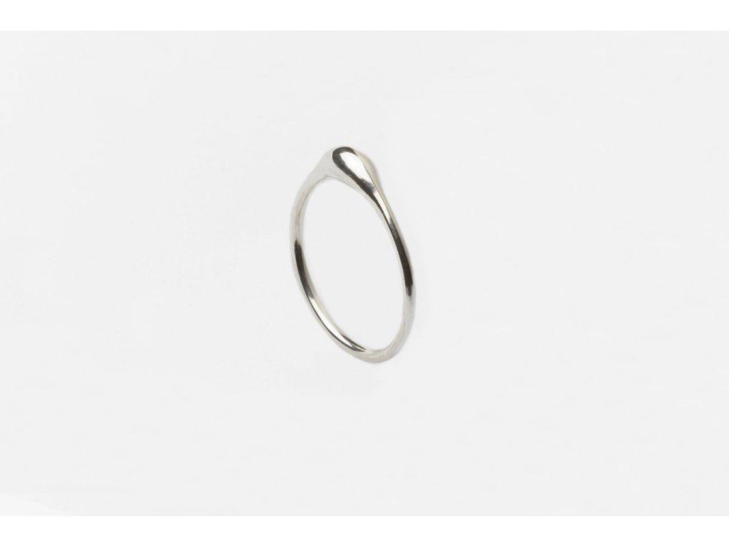 SO stříbrný prsten kapička