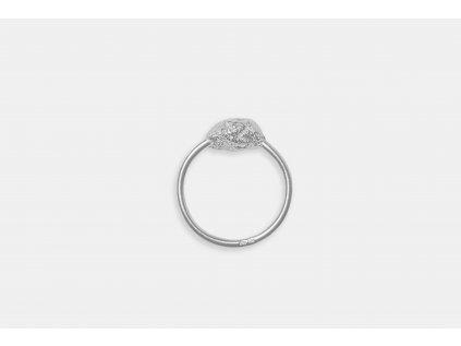 NEW ARCHEOLOGY Artefakt stříbrný prsten s kamínkem Ag 925/1000