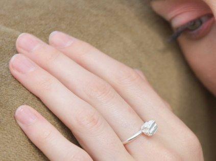 NEW ARCHEOLOGY Artefakt stříbrný prsten kůrka Ag 925/1000
