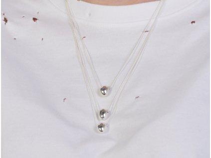 SO stříbrný řetízek podélná kapka Ag 925/1000