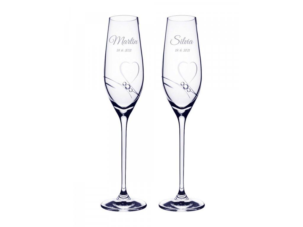 Romantik 210 svadobne pohare