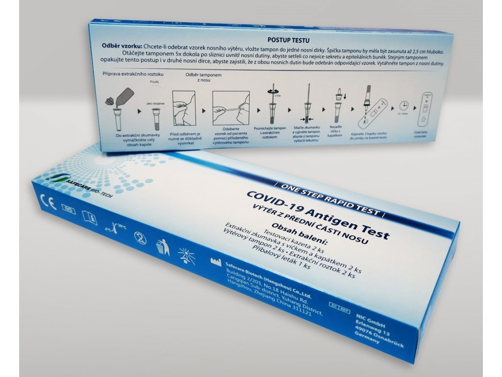 COVID-19 Antigen Rapid Test Kit (Swab) - sada 2 ks Safecare BIOTECH