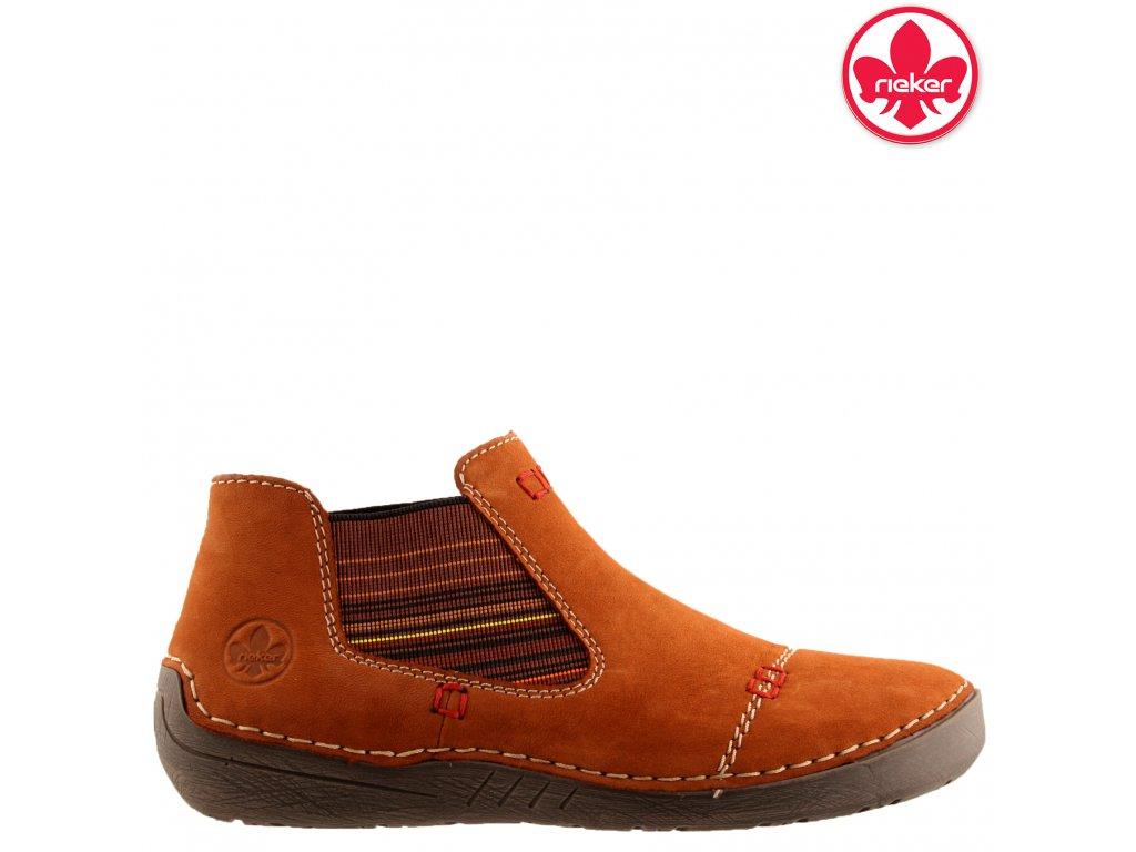 Dámská kotníková obuv RIEKER 52590-22 hnědá 991522