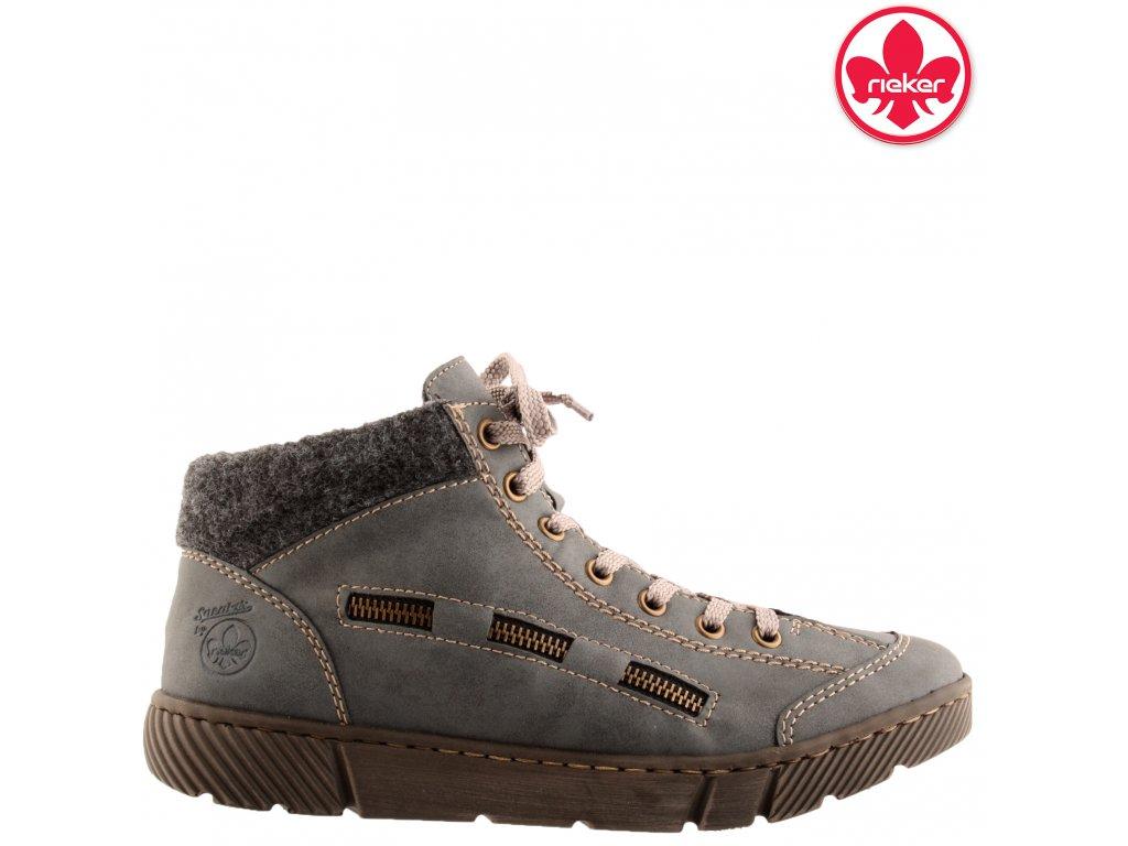 Dámské kotníkové boty sneakers Rieker 52943-14 sleva 60973903