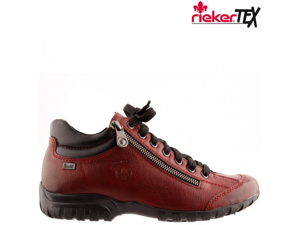 Dámské bordó nepromokavé kotníkové boty Rieker-Tex L4613-35 výprodej 51670555