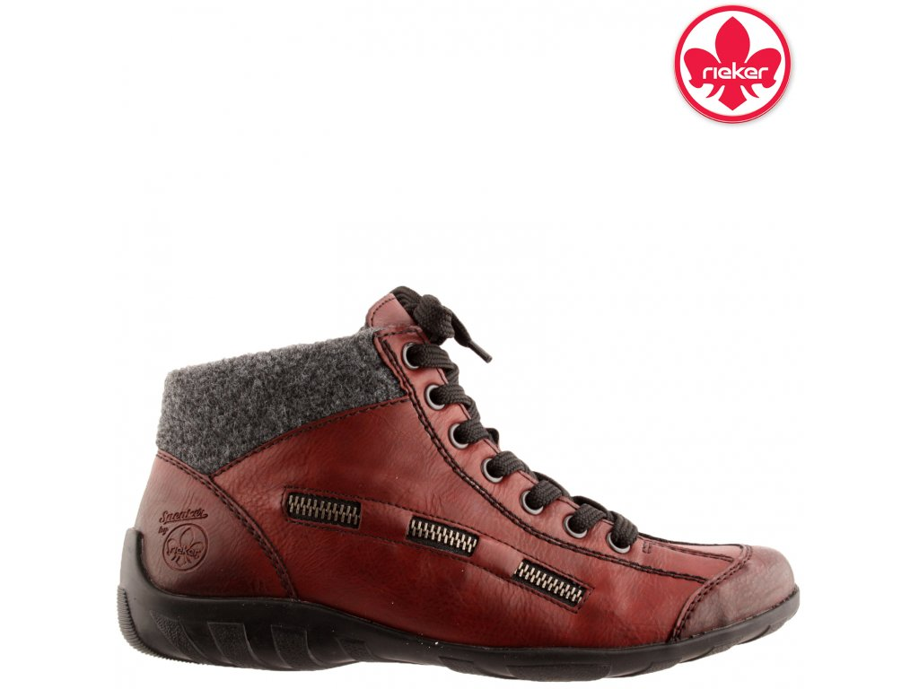 Dámské bordó kotníkové boty Rieker L6543-35 výprodej 49157345