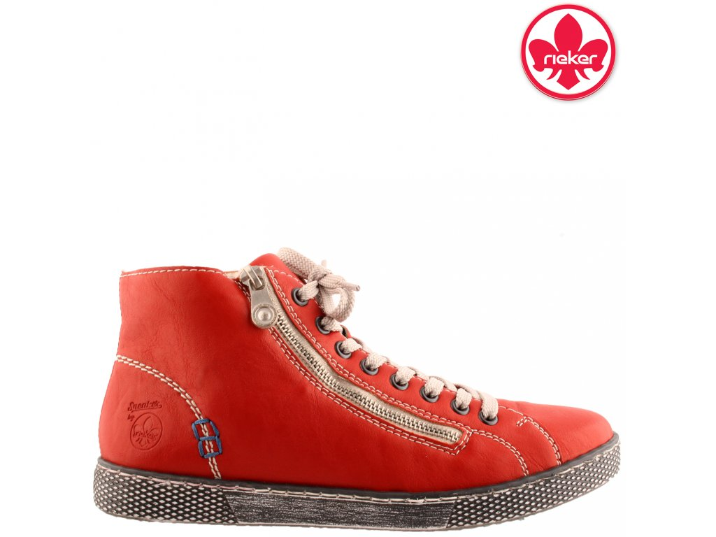 Dámské bordó sneakers kotníkové boty Rieker Z1221-33 výprodej 46382160