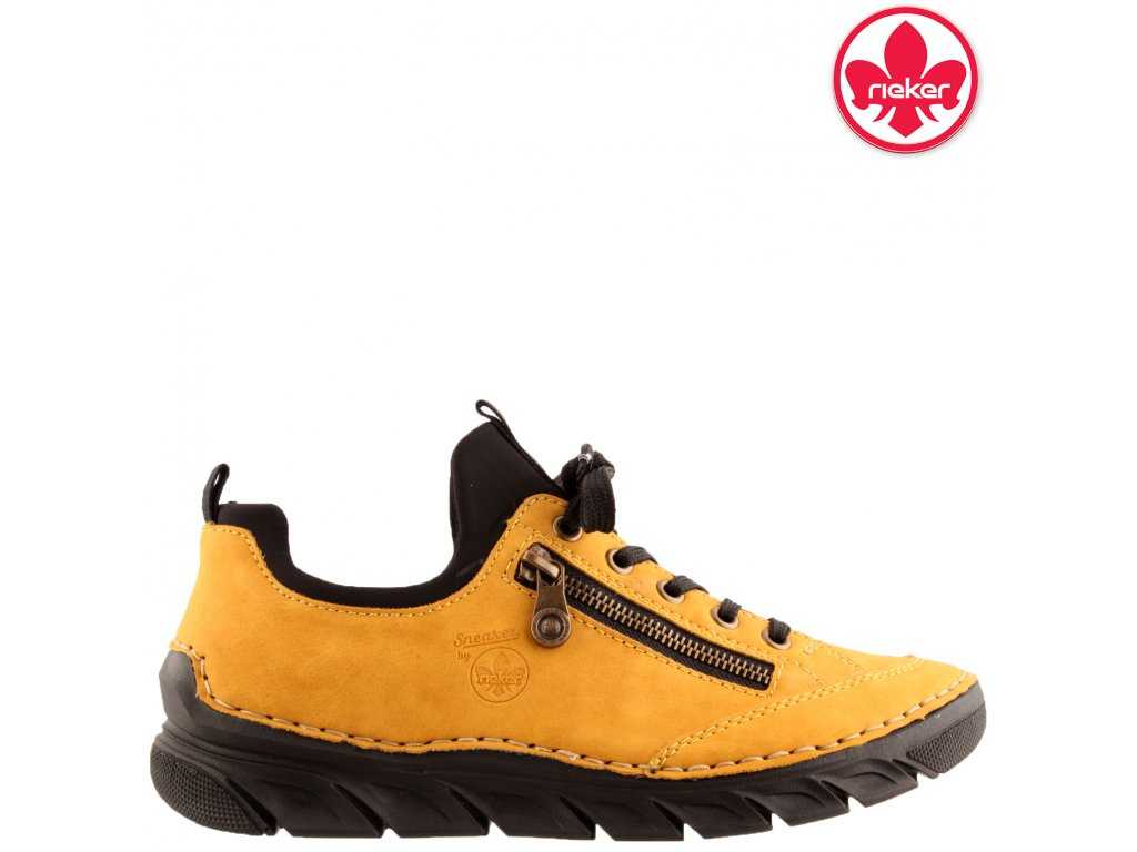 Dámské žluté sneakers tenisky boty Rieker 55073-68