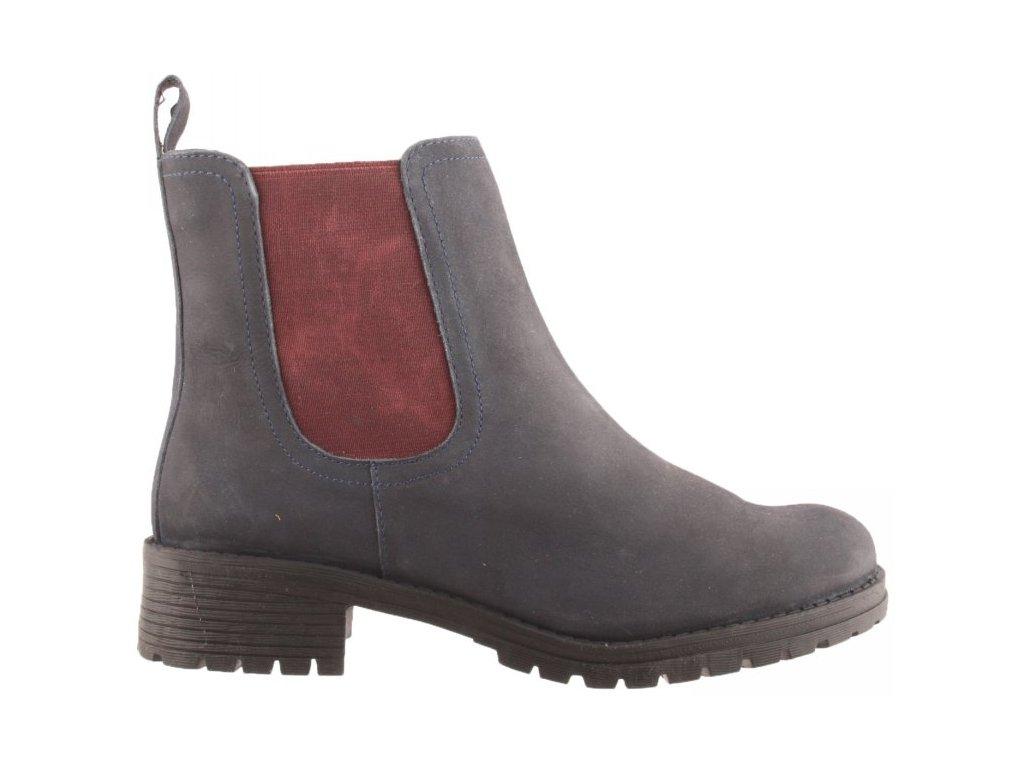 Dámské kožené kotníkové boty chelsea s gumou Sheego 61245902